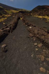 Coulée de lave de l'éruption de 2012<br> Parco Dell'Etna<br> Île de La Sicile
