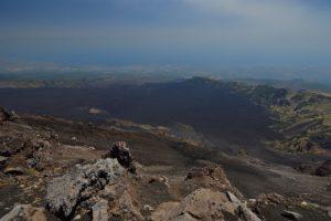 Belvédère sur la caldera Valle del Bove<br> Parco Dell'Etna<br> Île de La Sicile
