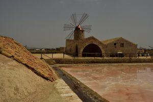 Moulin des Salines de Trapani<br> Île de La Sicile