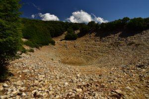 Doline sur les flancs du Pizzo Carbonara<br> Parco Naturale Regionale delle Madonie<br> Île de La Sicile