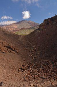 Volcans Teide &amp; Pico viejo depuis le cratère de Montana Samara<br> Parc national du Teide<br> Île de Tenerife (Islas Canarias)
