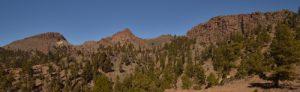 Panoramique avec Sombrero, Roque de Almendras &amp; Sombrero de Chasna<br> Parc national du Teide<br> Île de Tenerife (Islas Canarias)