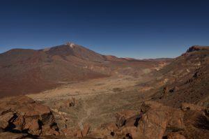 Point de vue sur le volcan Teide &amp; Las Canadas depuis le Sombrero de Chasna<br> Parc national du Teide<br> Île de Tenerife (Islas Canarias)