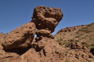 Rocher près du Sombrero de Chasna<br> Parc national du Teide<br> Île de Tenerife (Islas Canarias)