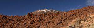 Le volcan Teide (3718m) sur le sentier de La Montana Blanca<br> Parc national du Teide<br> Île de Tenerife (Islas Canarias)
