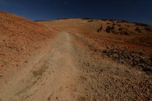 Les paysages lunaires et désertiques de La Montana Blanca<br> Parc national du Teide<br> Île de Tenerife (Islas Canarias)