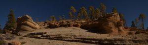 """Paysage lunaire du à l'érosion sur le sentier du site """"Paysaje Lunar""""<br> Île de Tenerife (Islas Canarias)"""