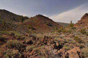 Cratère de Montana Guamasa ou del Alto<br> Parc national du Teide<br> Île de Tenerife (Islas Canarias)