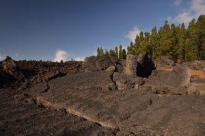 Coulées de lave du volcan Chinyuero<br> Parc national du Teide<br> Île de Tenerife (Islas Canarias)