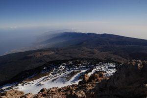 Point de vue du sommet du Teide<br> Parc national du Teide<br> Île de Tenerife (Islas Canarias)