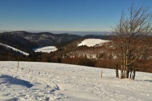 Le Lac de la Lande depuis la Route des Crêtes<br> Parc naturel régional des Ballons des Vosges