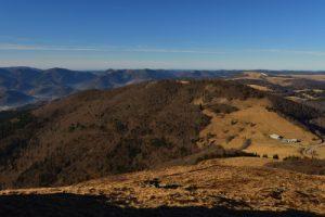 Le Grand Ballon, point culminant du massif des Vosges, culmine à 1424m.<br> Parc Naturel Régional des Ballons des Vosges