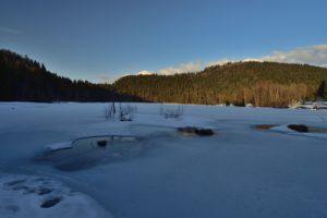 Le Lac de Lispach gelé<br> Parc Naturel Régional des Ballons des Vosges