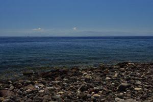 Point de vue sur la Sicile depuis les hauteurs de Gelso<br> Île de Vulcano<br> Île éoliennes