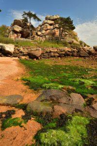 Amas chaotiques de granite rose<br> La Côte de granite rose
