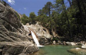 Cascade de Pucaraccia<br> Région de Solenzara<br> Corse Sud Est