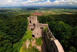 Château du Bernstein du XIs<br> Massif des Vosges