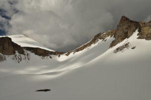 Lac du Lauzon sous la neige<br> Massif du Dévoluy