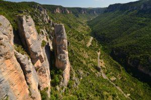 Le balcon du vertige domine la Jonte de 300m<br> Le Causse Méjean<br> Parc Naturel National des Cévennes