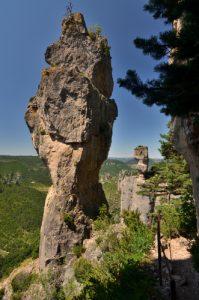 Les vases de Chine et de Sèvres de la corniche des gorges de la Jonte<br> Le Causse Méjean<br> Parc Naturel National des Cévennes