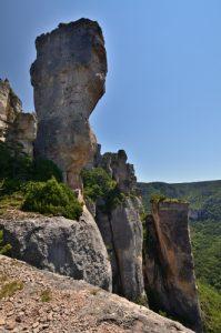 Les vases de Sèvres et de Chine de la corniche des gorges de la Jonte<br> Le Causse Méjean<br> Parc Naturel National des Cévennes