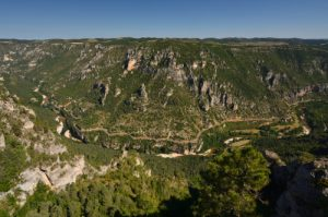 Point de vue du Roc des Hourtous<br> Le Causse Méjean<br> Parc Naturel National des Cévennes