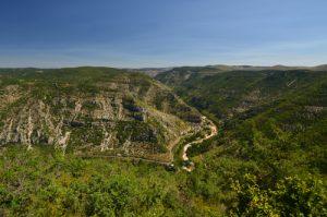 Point de vue du Roc de Serre<br> Le Causse Méjean<br> Parc Naturel National des Cévennes
