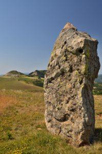 Menhir de la Cham des Bondons<br> Parc Naturel National des Cévennes
