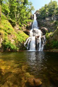 La cascade de Runes  -  Mont Lozère -  Parc national des Cévennes