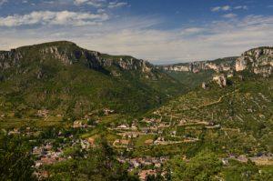 Rocher de Capluc<br> Les corniches des Gorges de la Jonte du Causse Noir<br> Parc Naturel Régional des Grands Causses
