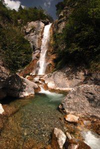 La grande cascade du Sapet à Nonnières.<br> Parc Naturel Régional du Vercors