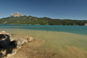 Baie des Moulettes<br> Lac de Serre-Ponçon<br> Parc Naturel National des Écrins