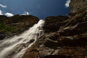La cascade de la Pisse<br> Le vallon du Rabioux<br> Parc Naturel National des Écrins