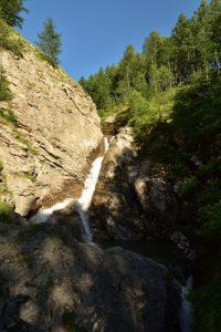 Cascade du Bachelard du pont de la cascade<br> Col de Cayolle<br> Parc Naturel National du Mercantour