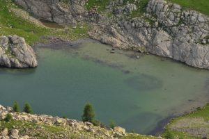 Les Lacs de l'Encombrette<br> Le Col de l'Encombrette<br> Parc Naturel National du Mercantour