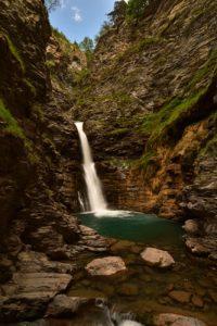 La Cascade de la Lance<br> Haute Vallée du Verdon<br> Parc Naturel National du Mercantour