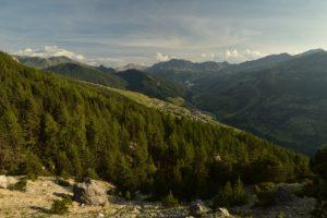 La vallée de Vars<br> La Crête de Vars<br> Parc Naturel Régional du Queyras