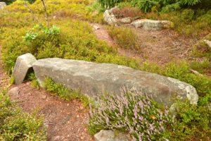 Menhir couché<br> Cromlech du Jardin des Fées<br> Massif des Vosges centrales