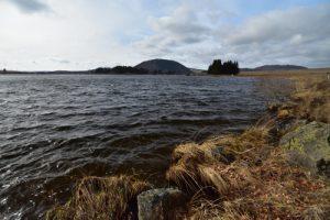 Le Lac de Bourdouze s'est formé depuis une dépression glacière datée de 12 000 ans environ<br> Parc Naturel Régional des Volcans d'Auvergne