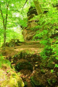 Château de Rothenbourg (XIV ième)<br> Parc Naturel Régional des Vosges du Nord