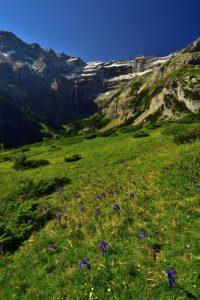 Le Cirque glaciaire de Gavarnie depuis le plateau de Bellevue<br> Haute vallée du Gave de Pau<br> Parc Naturel National des Pyrénées